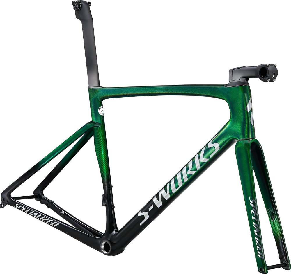 Specialized S-Works Tarmac SL7 Frameset Green Tint Fade over Spectraflair/Chrome 61