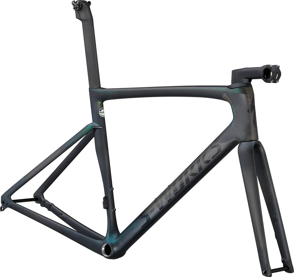 Specialized S-Works Tarmac SL7 Frameset Carbon/Chameleon Silver Green Color Run 52