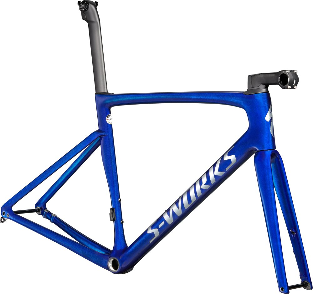 Specialized S-Works Tarmac SL7 Frameset Blue Tint over Spectraflair/Brushed Chrome 44