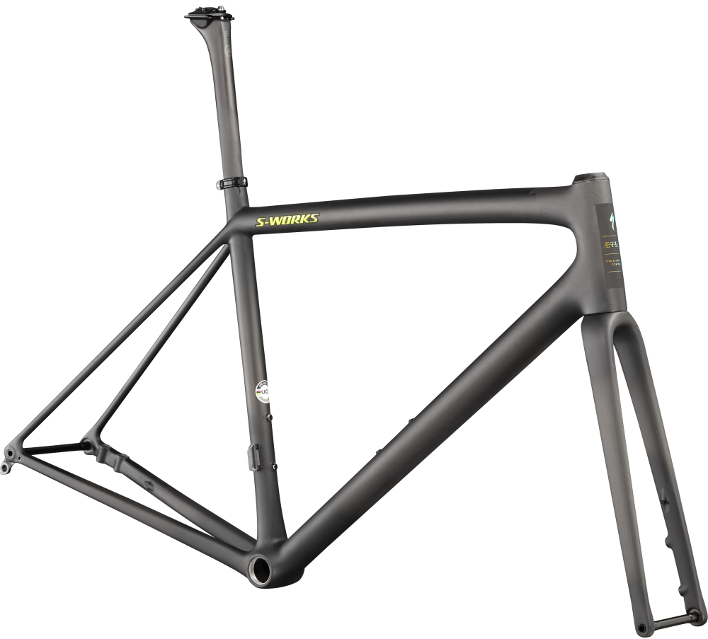 Specialized S-Works Aethos Frameset Satin Carbon/Jet Fuel 61