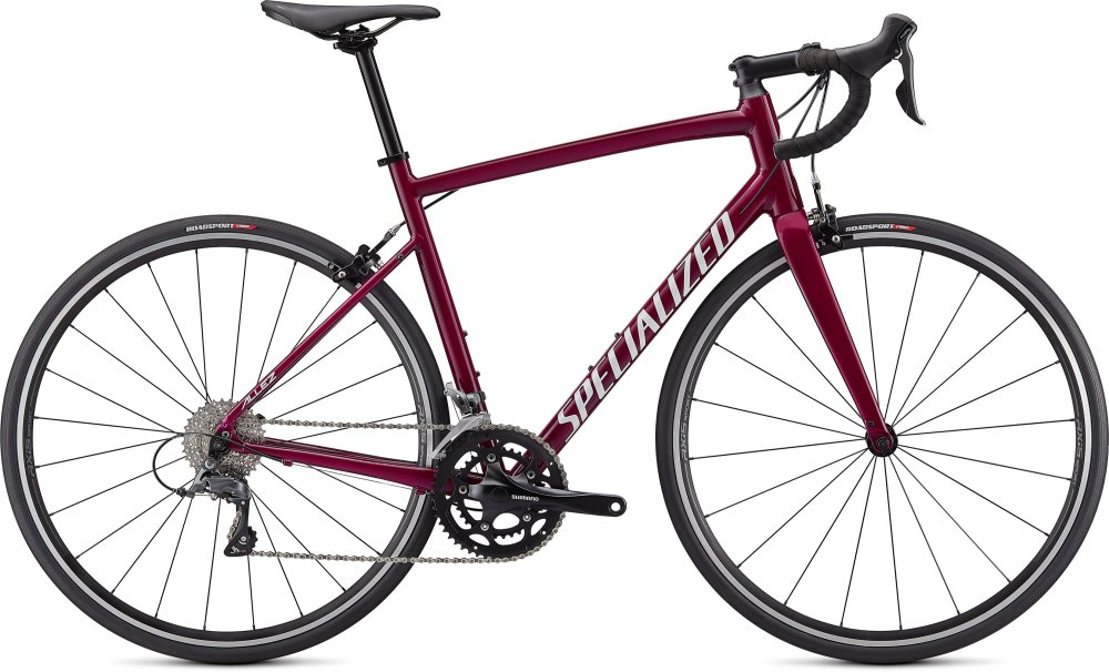 Specialized Allez Gloss Raspberry/Metallic White Silver 44