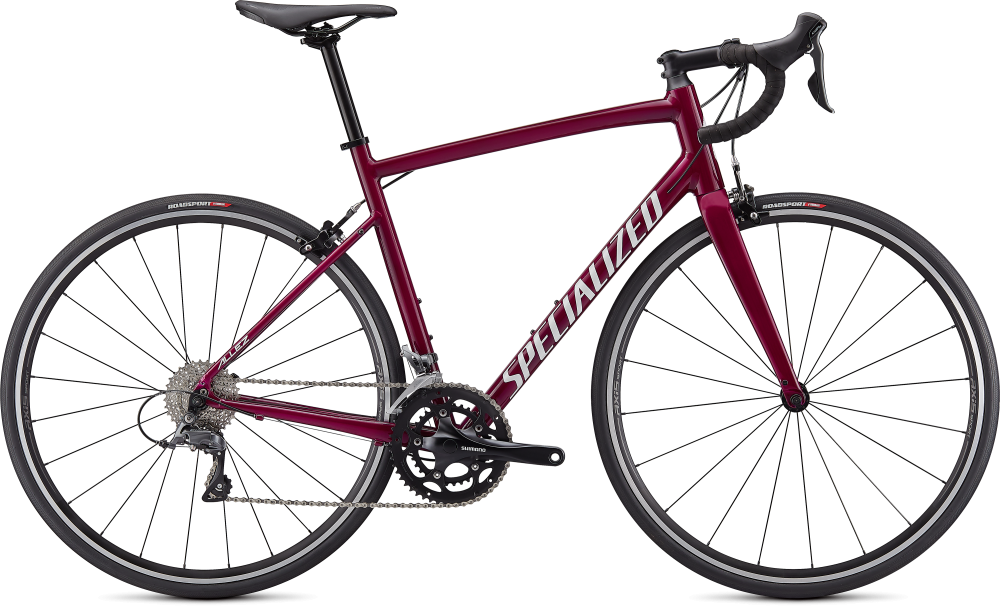 Specialized Allez Gloss Raspberry/Metallic White Silver 52
