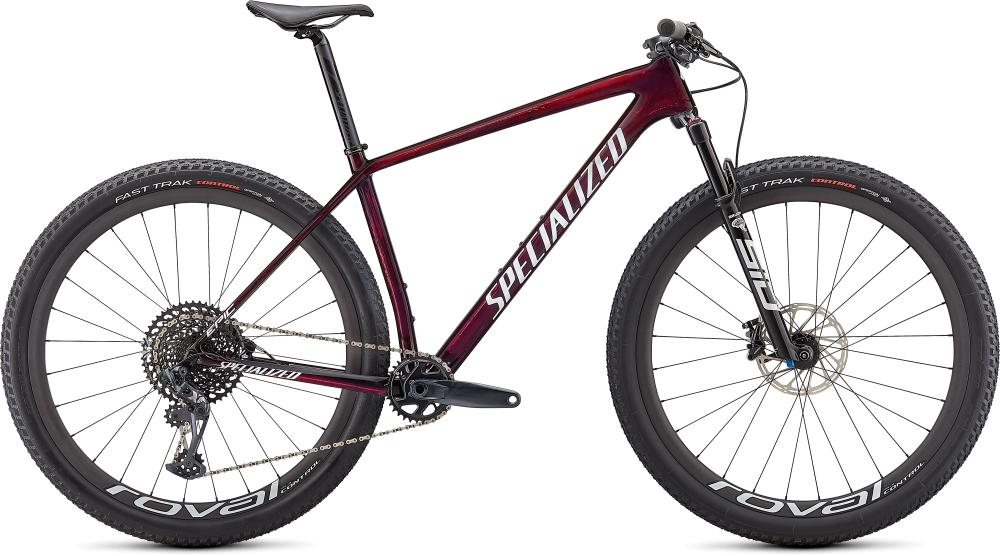 Specialized Epic Hardtail Expert GLOSS RED TINT/WHITE GHOST PEARL L