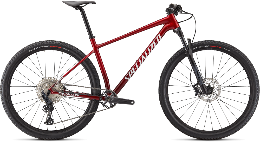 Specialized Chisel Comp GLOSS RED TINT BRUSHED/WHITE M