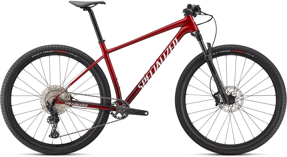 Specialized Chisel Comp GLOSS RED TINT BRUSHED/WHITE L
