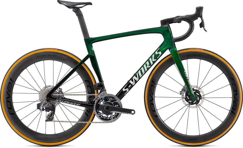 Specialized S-Works Tarmac SL7 - SRAM Red eTap AXS Green Tint Fade over Spectraflair/Chrome 61
